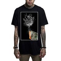 ingrosso vestiti di uomini neri-Mafioso Men's Money To Burn T Shirt Nero tatuato punk rap abbigliamento Apparel Abbigliamento 2018 fashion Brand T Shirt
