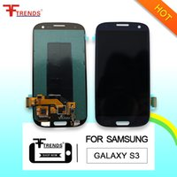 ingrosso samsung s3 lcd t999-per Samsung Galaxy S3 i9300 LCD Touch Screen Digitizer Assembly i9305 L710 R530 i535 T999 i747 100% Test LCD originale Top Quality