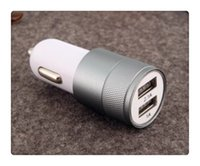 g6 auto großhandel-Dual USB Port Auto Adapter Ladegerät Universal Aluminium 2-Port 3 Anschlüsse Auto Ladegeräte USB für Iphone7 Plus Samsung Galaxy S8 LG G6