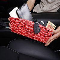 ingrosso scatole di libri in pelle-Car Organizer PU Leather Car Seat Organizer Box Caddy Slit Gap Tasca Storage Glove Box lotto Box in pelle per libri / telefoni / carte