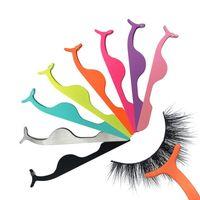 Wholesale makeup tools accessories resale online - Artificial Eyelash Clip Adjuster Eyelash Tweezers Magnet Girls Makeup Accessories Cosmetic Tool Multifunctional High Quality LJJN54