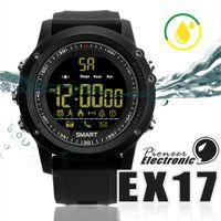 умные часы водонепроницаемые яблоко оптовых-Для apple iphone Bluetooth Smart watch EX17 длительным временем ожидания Smartwatch браслет IP67 водонепроницаемый плавать фитнес-трекер спортивные часы Android