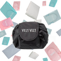 Wholesale japan style bag for sale - Vely Vely lazy cosmetic bag Drawstring Wash Bag Makeup Organizer Storage Travel Portable Cosmetic Bag Pouch pc
