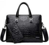 Wholesale laptop briefcase for sale - New Luxury handbag Arrival Famous Brand Business Men Briefcase Bag PU Leather Laptop Bag Briefcase Male PU Leather Shoulder bags