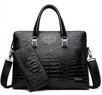 ingrosso borse casual maschile-Nuova borsa di lusso arrivo famoso marchio di uomini d'affari valigetta borsa in pelle PU portatile borsa valigetta in pelle PU borse a tracolla in pelle