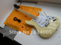 Wholesale usa electric - free shipping High quality Stratocaster usa 6 string cream Electric Guitar ! with scalloped fingerboard big headstock