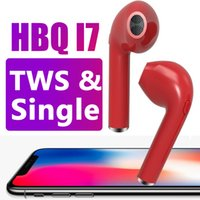 Wholesale Invisible Wire - HBQ i7 Twins TWS Wireless Bluetooth Earphones Invisible Headphones V4.2 Stereo Music Earbuds Phone Earpiece For Iphone X With Retail Package