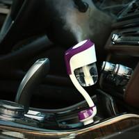 ingrosso rosh atomizzatori-Nuovo II 12V Auto Umidificatore a Vapore Caricatore per auto USB Purificatore d'aria Aroma Olio Diffusore Aromaterapia Mist Maker Fogger