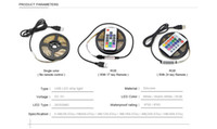 uzaktan kumandalı güç şeritleri toptan satış-1 M 2 M 3 M 4 M 5 M USB şarj led şerit işık DC 5 V 3528 SMD USB kablosu LED bant güç kaynağı IR RF uzaktan kumanda ile LED lamba RGB