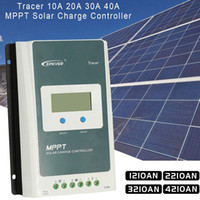lcd mppt solar venda por atacado-[Genuine] Controlador de Carga MPPT Controlador de Energia Solar 1210AN 2210AN 3210AN 4210AN Com LCD Medidor MT50 12 V 24 V PV Interruptor Regulador