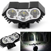 yakınlaştırma bisikleti toptan satış-Yüksek Kaliteli 7500 Lümen 3X T6 LED Yakınlaştırma Mini Torch LED Bisiklet MTB Yol Bisikleti Ön Başkanı Bisiklet Işıkları Ile Dağı