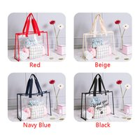 ingrosso nuotare borse per le donne-2018 New Transparent PVC Travel Beach Bag Moda Donna Shopping Storage Estate Borsa da bagno Clear Shoulder Tote