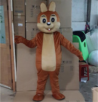 Wholesale squirrel mascot costumes - 2018 High quality Squirrel Mascot Costume Halloween Christmas Birthday Cute Squirrel Carnival Dress Full Body Props Outfit