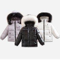 ingrosso piuma giù inverno cappotti ragazze-Giubbotto invernale 2018 per bambina Cappotti 90% piumino Piumini Abbigliamento bambino per abbigliamento da neve Capispalla per bambini