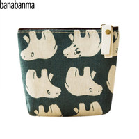petit porte-monnaie achat en gros de-Banabanma Cute Purse Girls Portefeuille Toile Coin Purse Women Zipper Wallet Small Key Coins Bag Kids Portefeuilles et bourses ZK40