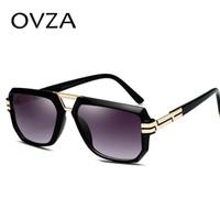 мужские красные рамные солнцезащитные очки оптовых-OVZA Мода Прозрачная Рамка Солнцезащитные Очки Мужские Красные Солнцезащитные Очки Женщины Высокого Качества Anti-UV S6015