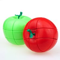 Wholesale christmas puzzles online - Magic Cube Apple Design Creative Puzzle Toys For Children Intelligence Development Strange Shape Cubes Christmas Gifts New Arrive yj Z