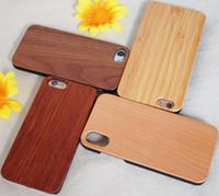 caso do iphone madeira de madeira venda por atacado-Gravura personalizada caso de telefone de madeira para iphone 11 x xs max xr 8 capa natureza cinzelada de madeira casos de bambu para iphone 6 6 s 7 plus samsung s10e
