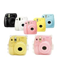 Wholesale waterproof camera plastic bag for sale - mini case New Transparent Plastic For Fujifilm Instax Mini Case Cover Protect Bag Camera Strap