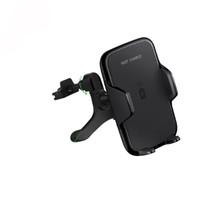 tragbare telefonhalterung großhandel-Savorigroup W12 Top Sales Schnelle Schwarze Drahtlose Telefon Ladegerät Handyhalter Auto Halterung mit Universal Portable Qi System