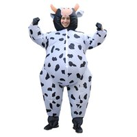 fantasia de vaca venda por atacado-Traje de dinossauro vaca inflável extravagante vestido de festa de natal do dia das bruxas Purim carnaval trajes da mascote para adulto LJ-038