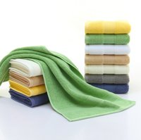 Wholesale color gift factory resale online - High quality cotton plain super thick absorbent towel cotton thick towel g gift custom towel color export factory direct