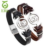 ingrosso accessori delle gufo delle ragazze-ER Vintage Retro Owl Bracelet Involucro in pelle polsino bracciale uomo fascino carino braccialetto ragazze coppie donne accessori mano LB059