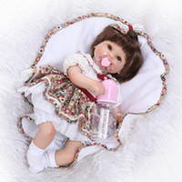 Wholesale child toys china resale online - 16 quot Girl Doll Reborn Silicone Vinyl Doll Boneca Reborn Silicone Reborn Baby Dolls Children Play House Toys Juguetes