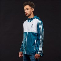 Wholesale Mens Casual Jackets For Spring - Mens Soccer Jersey Spring Autumn New Arrival Real Madrid Soccer Training Jersey Coat Jackets Casual Sport Windbreak Coat for Men