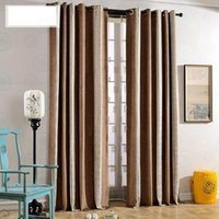 Modern Chinese Chenille Curtain Bedroom Living Room Simple Jacquard Floor  To Ceiling Chinese Style Curtain Custom