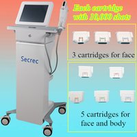 Wholesale personal ultrasound - Home salon hifu focused ultrasound personal use 10,000 shots 5 cartridge hifu facial machine for face lifting