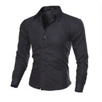 31fc5d9bae Al por mayor-moda de lujo para hombre de manga larga camiseta Social Slim  Fit hombres ropa camisas casuales vestido masculino Top ropa barata China  4XL 5XL