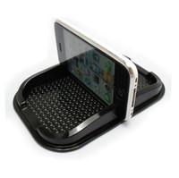 mattenhalter für telefon großhandel-Handy GPS Halter Schwarz Armaturenbrett Sticky Pad Matte Anti Rutschfeste Gadget Innen Artikel Zubehör