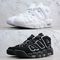 Wholesale tri shoes for sale - Group buy Best quality men Pippen boots air more uptempo OG basketball shoes mens UNC Tri colors triple black Shattered Chicago sneakers