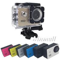 caméra vidéo résistant à l'eau hd achat en gros de-Moins cher A9 SJ4000 1080P Full HD Action Sport Caméra numérique Écran 2 pouces sous étanche 30M DV enregistrement Mini Sking Bicycle Photo Vidéo