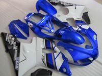 Wholesale 1999 yamaha r1 blue fairing kit for sale - Group buy High grade Fairing kit forYAMAHA YZF R1 blue white black fairings set YZF R1 QE48