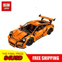 Wholesale models boys - New LEPIN 20001 technic series Race Car Model Building Kits Blocks Bricks Compatible 42056 Boys Gift Educational Toys