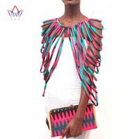 afrikanische handgemachte halsketten großhandel-BRW 2017 African Ankara Handmade Strap Halsketten Mode-accessoires Schmuck Geschenk Afircan Stoff Druck Halskette Schal WYX15