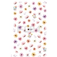 Wholesale Elegant Nail Tips - China stickers Suppliers 1 Sheets Elegant Women Designs 3D Tips Colorful Transparent Blossom Decals DIY Manicure Nail Art