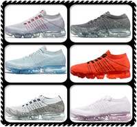 Wholesale max size - 2018 Newest VaporMaxes Men & Women Shock Racer Running Shoes High Quality Fashion Casual Vapor Maxes Sports Sneakers Trainers Size 36~46