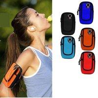 koşu için telefon çantaları toptan satış-Egzersiz Spor Koşu Spor Salonu Telefonları Armband Vaka Kapak Kılıfı Tutucu Çanta Opp Torba ile iPhone Samsung Telefonları için