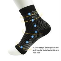 socken anti müdigkeit großhandel-Comfort Foot Anti Müdigkeit Frauen Compression Socken Ärmel Elastische Herren Socken Frauen Relief Swell Ankle Sokken