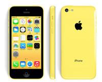 handys iphone 5c großhandel-100% ursprüngliches 4.0inch Apple iPhone 5C IOS8 4G LTE entriegelte überholte Smartphone-Handys geben Schiff frei