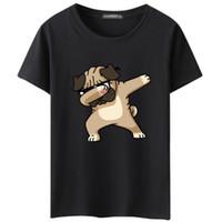 adam hayvan çizgi filmleri toptan satış-Erkek tişörtlü Köpekler Hayvan karikatür Baskılı T Shirt Yaz Rahat Yüksek Kaliteli Hipster tişörtlerin Erkekler