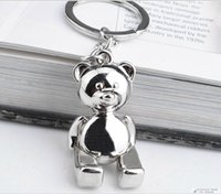 Wholesale Ball Bearing Keychain - Funny Silver Metal 3D Teddy Bear Keychain With Romoving Arms And Legs Customized Logo Party Gift Favor