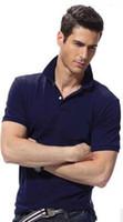 Wholesale Blue Golf Tees - Best Seller size S-6XL Sales Golf polo Mens T-shirt multi color slim polo shirt lapel short-sleeve Tees Mens sport shirtHigh-quality