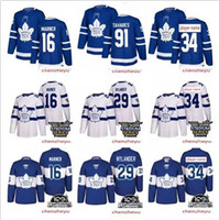 Wholesale john 16 - 2018 Toronto Maple Leafs jersey 34 Auston 16 Mitch Marner 29 william nylander 91 John Tavares Hockey Jerseys