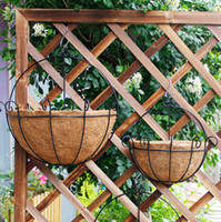 Wholesale Palms Stock - Hanging Wall Iron Flowerpot Pastoral Style Plant Pots Antirust Wear Resisting Hollow Creative Environmental Protection Coconut Palm 9hz3 X