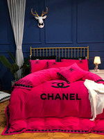 Wholesale king size fashion bedding for sale - Luxury C Printed Bedding Sets High Quality Bedclothes Fashion Duvet Cover Sets with Bedsheet Pillow Covers Home Textiles King Size
