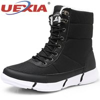 Wholesale man snow boots big size resale online - UEXIA Big Size Unisex Boots Men Shoes Winter Snow Warm Fur Plush Lace Up High Top Outdoor Flats Sneakers Working Chaussure Homme